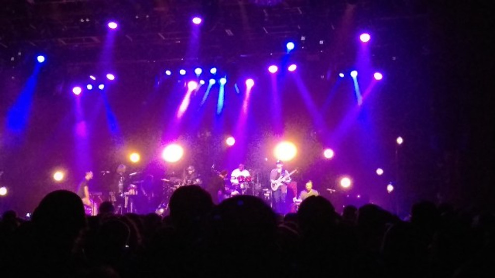 A picture of The Revivalists on stage at The Fillmore.