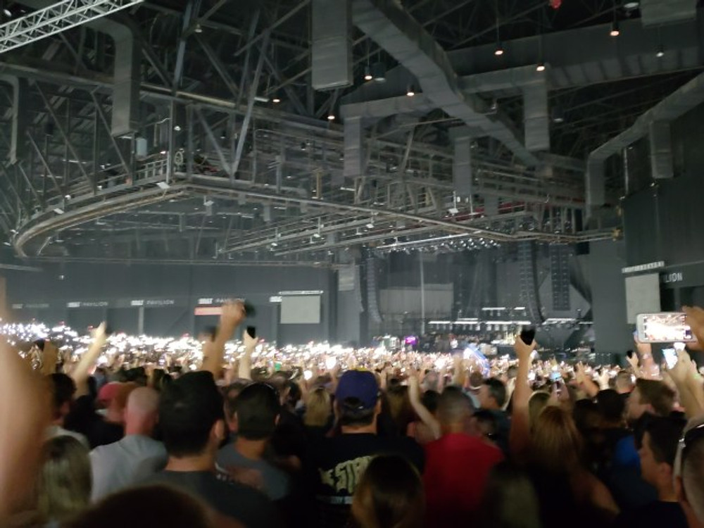 Foo Fighters on stage in Camden, NJ.