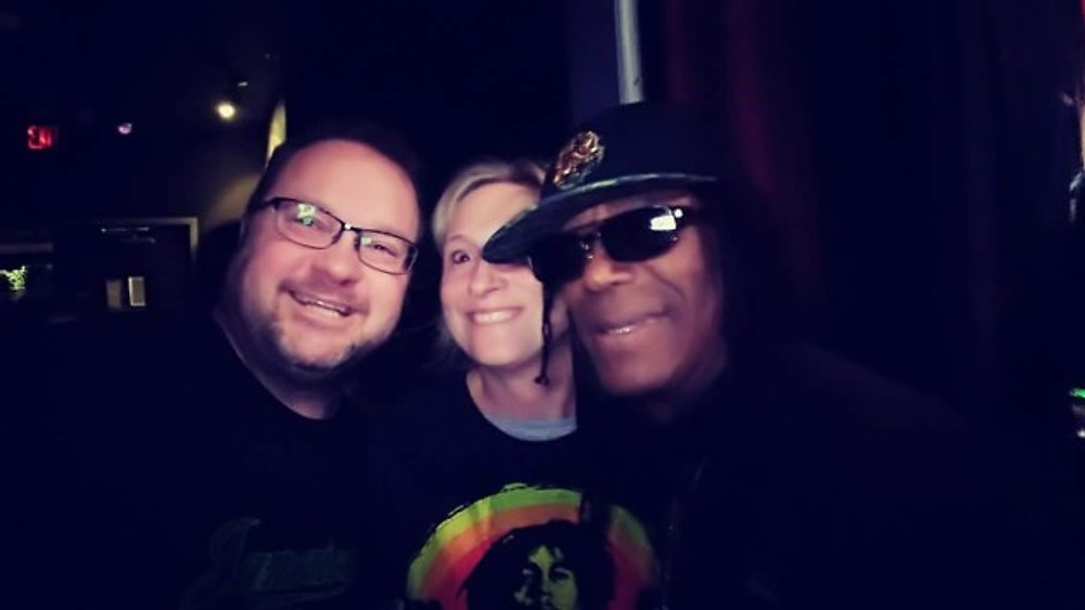 A selfie of me, my husband and Junior Marvin after the show.