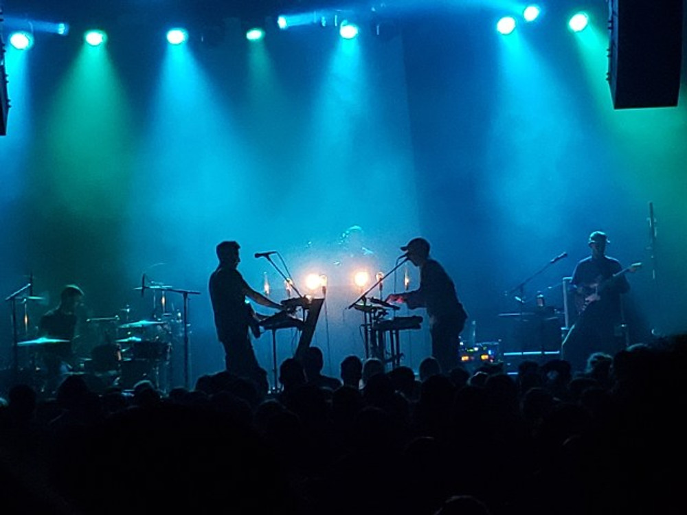 Foreign Air on stage at Union Transfer.