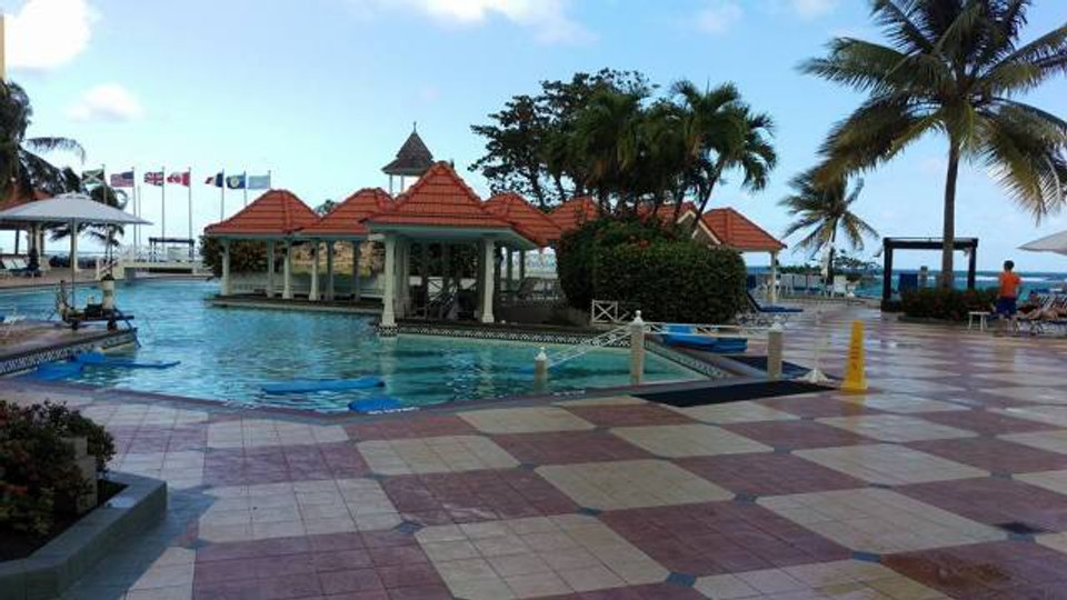 A picture of the pool area at our resort.