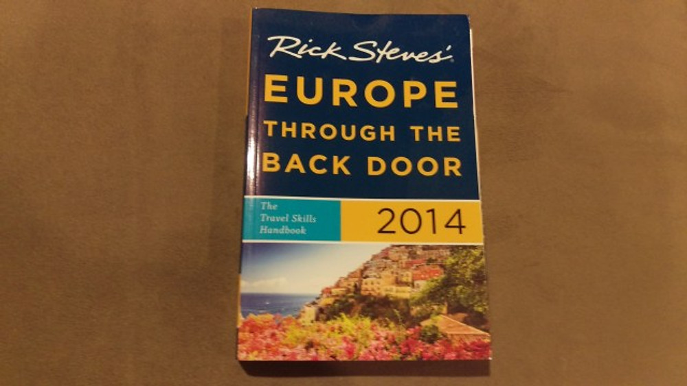 A picture of Rick Steves' Europe Through the Back Door 2014 edition.