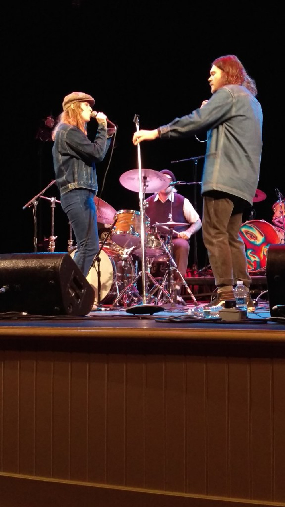 A picture of Liz Cooper and lead singer Aaron Martin.