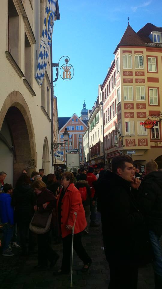 A picture of the outside of Hofbrauhaus.