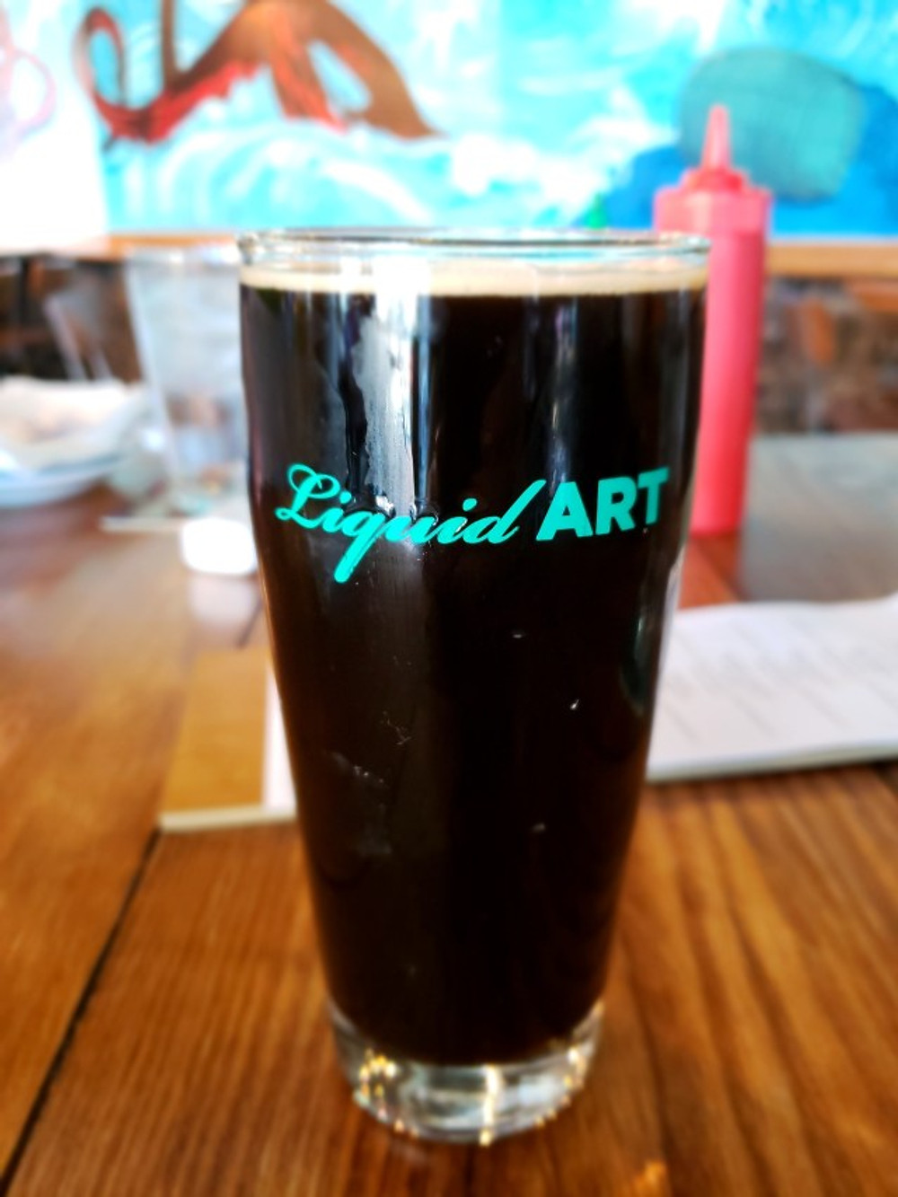 A pint of beer from Roy-Pitz Barrel House.