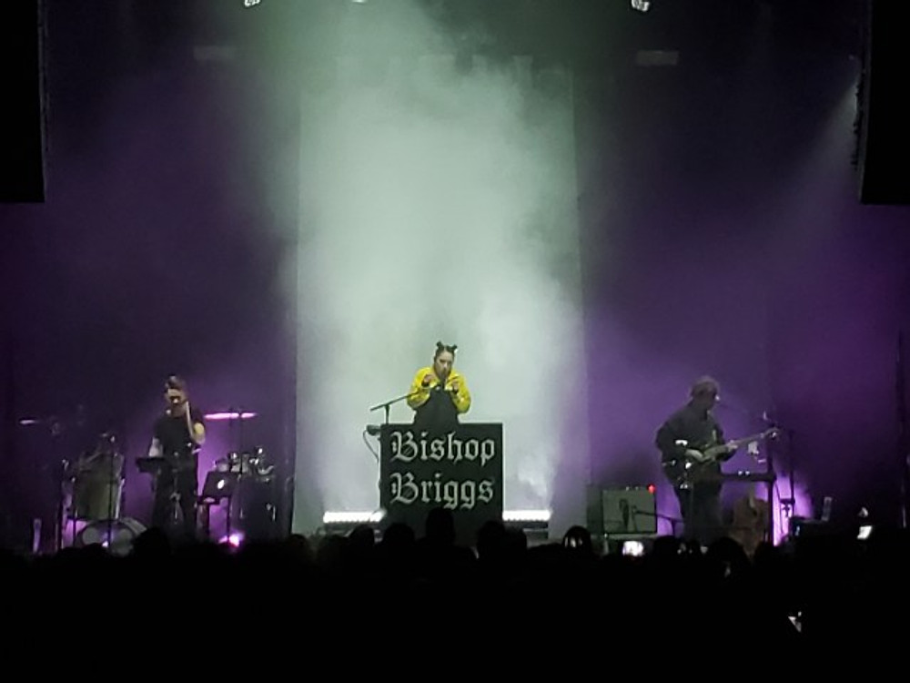 Bishop Briggs on stage at Union Transfer.