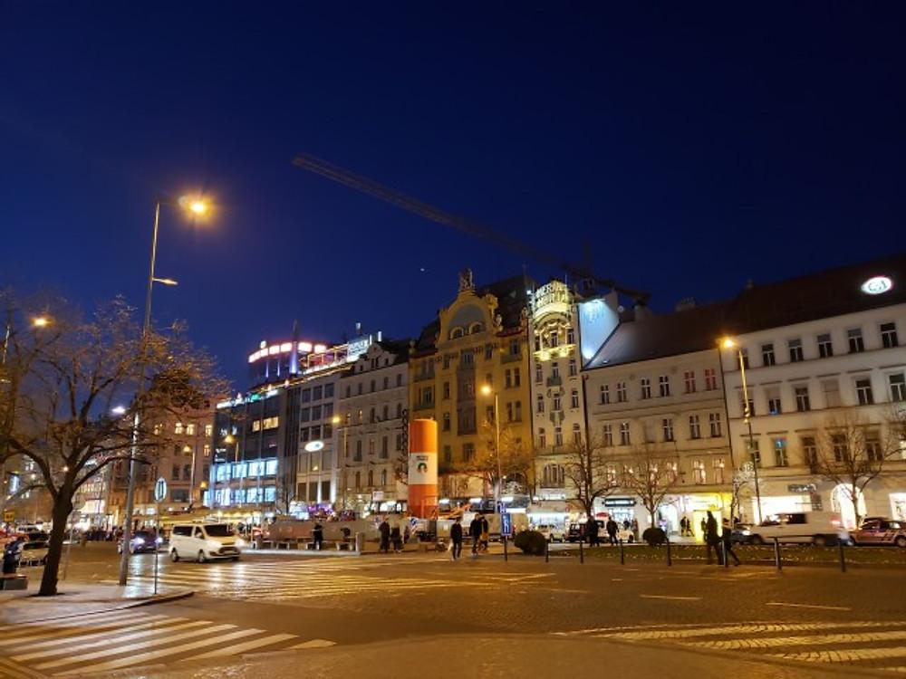 Wenceslas Square in Prague