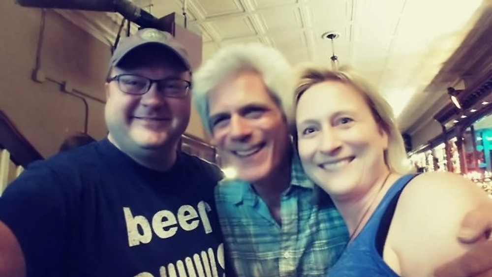 A selfie of my husband and I with John D'earth.