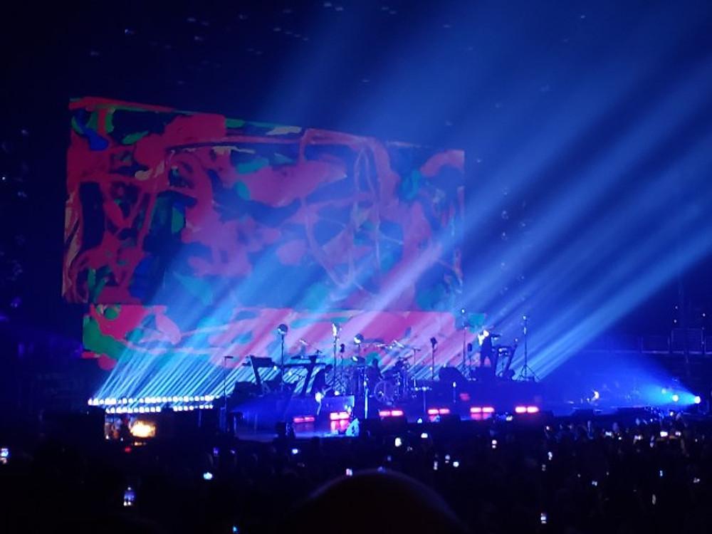 Depeche Mode on stage in Philadelphia.