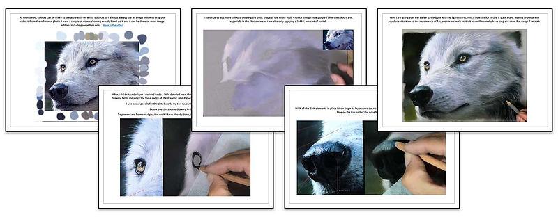 White Wolf - Pastel Tutorial
