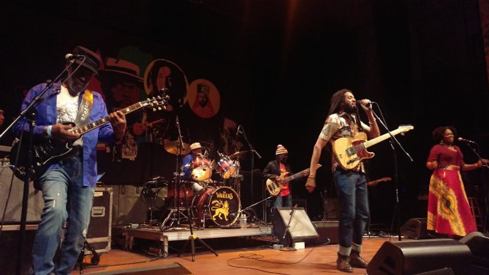 The Wailers on stage at The Queen in Wilmington, Delaware.