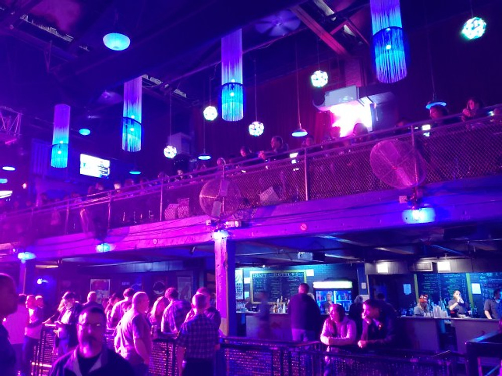 The balcony area at the Electric Factory.