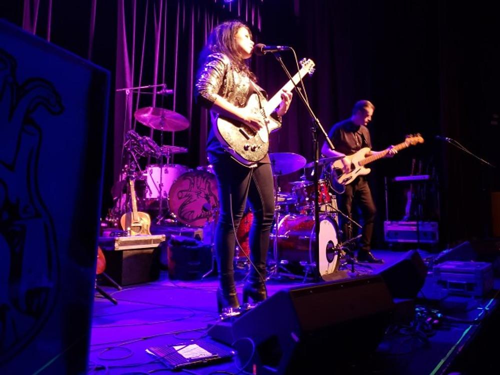 Liz Brasher on stage.
