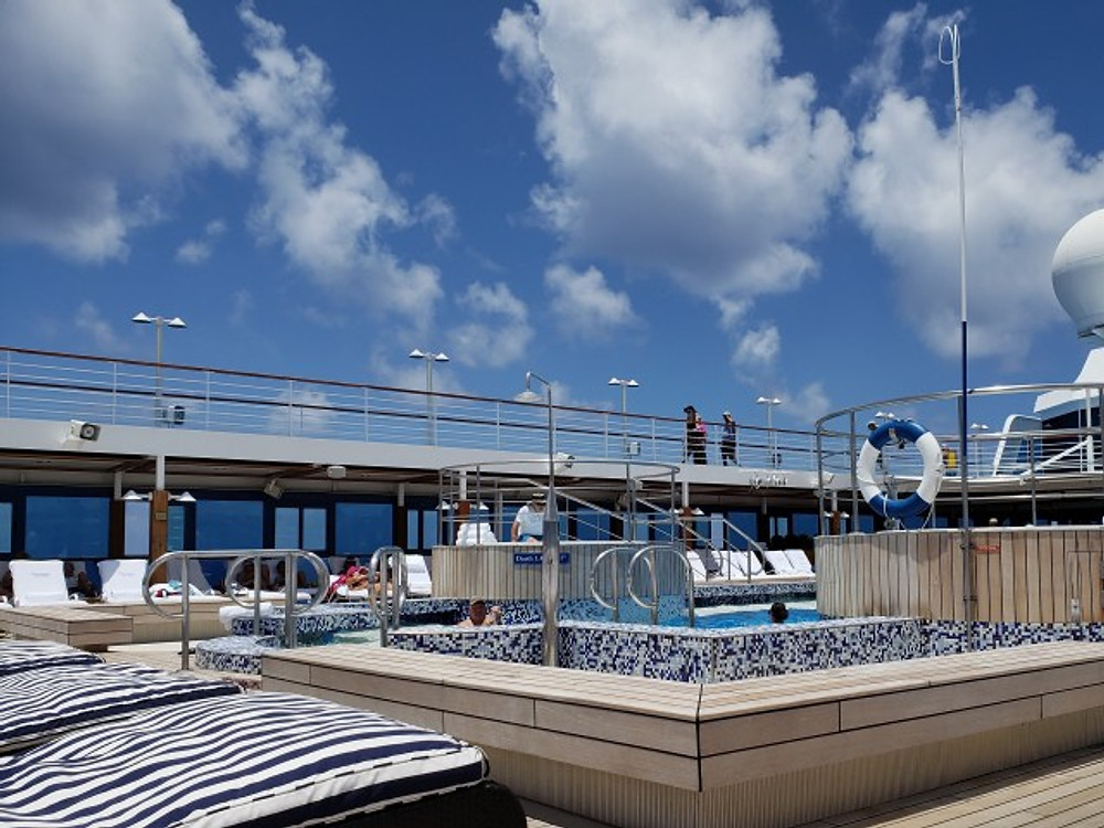 The pool deck on our cruise ship.