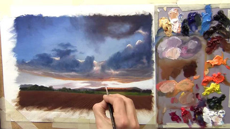 Painting Clouds - Oils