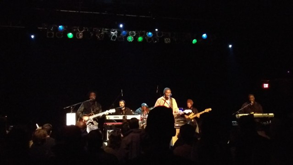A picture of The Original Wailers on stage.