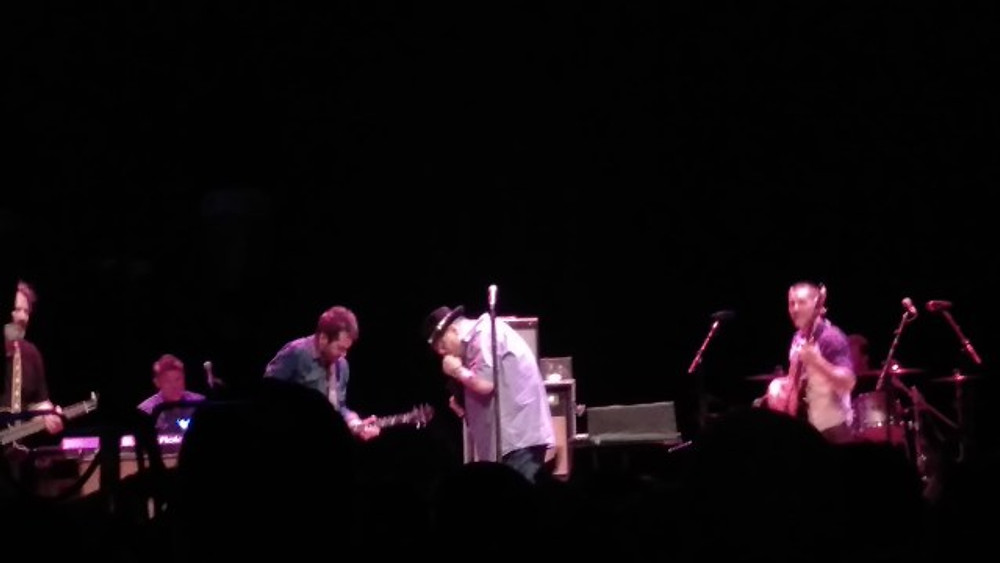Blues Traveler with Jay Rutherford from Los Colognes on stage.