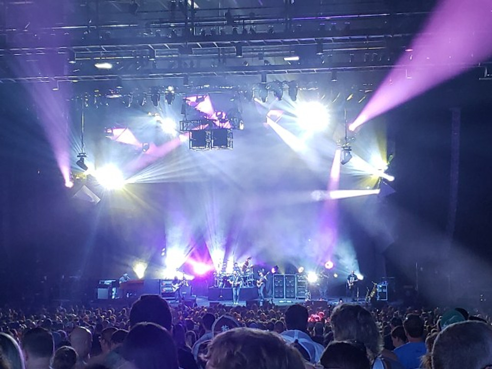 Dave Matthews Band on stage in Camden.