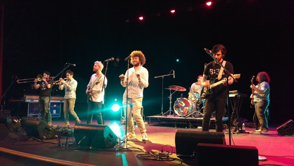 A picture of the band Ripe on stage.