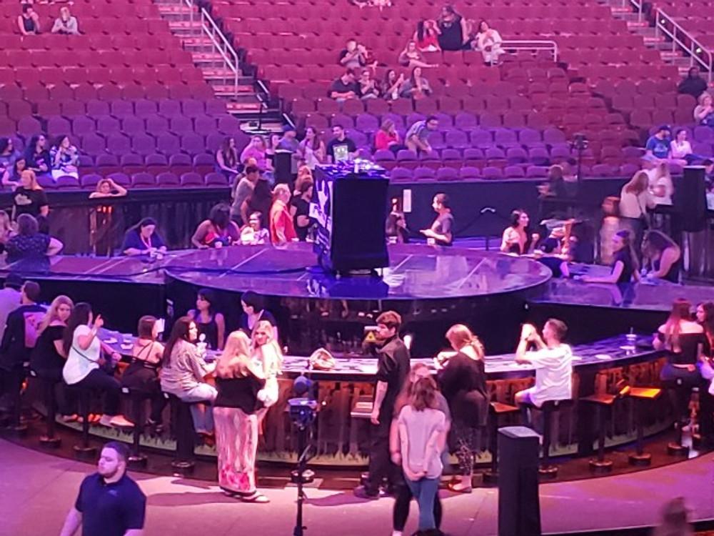 Justin Timberlake's stage set up.