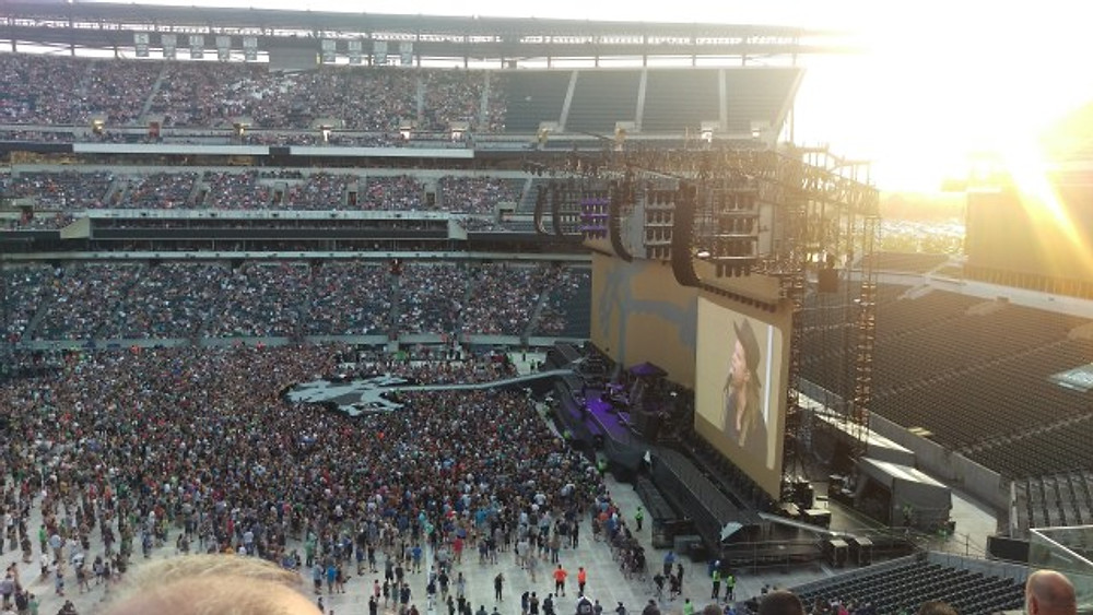 A view of the stage from way up high at the Linc.