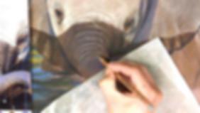 Baby Elephant - Pastels