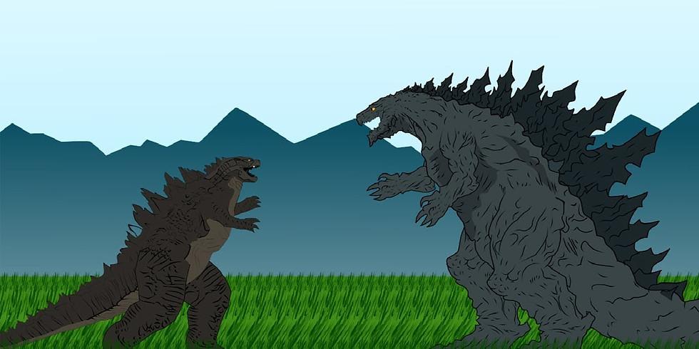 Merenda Selvaggia con i mostri giganti: Godzilla e i suoi orridi amici!