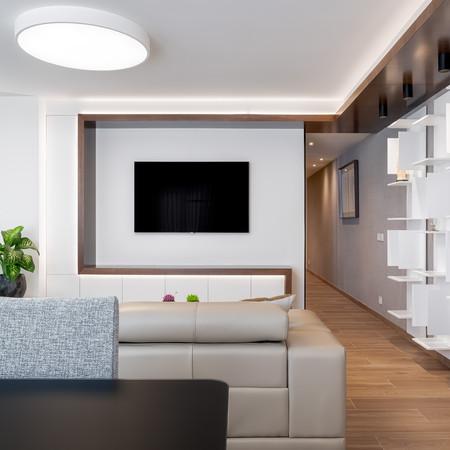 Vista mueble de TV