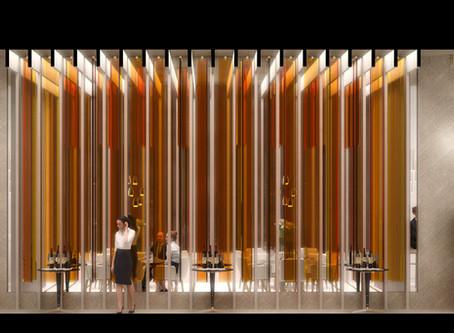 """Conoce el proyecto de restaurante """"Orange Flame"""" de Eduardo Meneses presentado en INTERCIDEC 2019."""