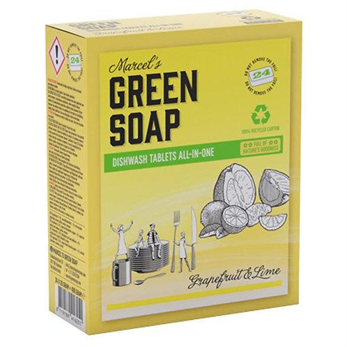 Vaatwastabletten Marcel's Green Soap (24 tabs)