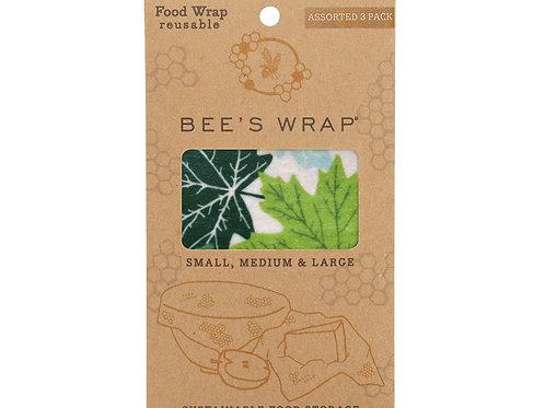 Bee's Wrap 3-pack Assorted Forrest Floor (3 maten)