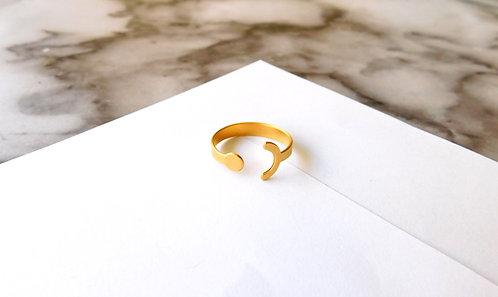 טבעת עיגול משלים - זהב/כסף