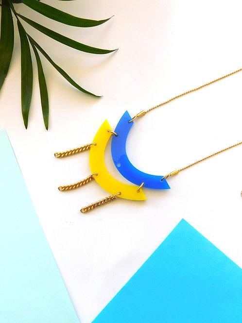 שרשרת מוניקה כחול-צהוב