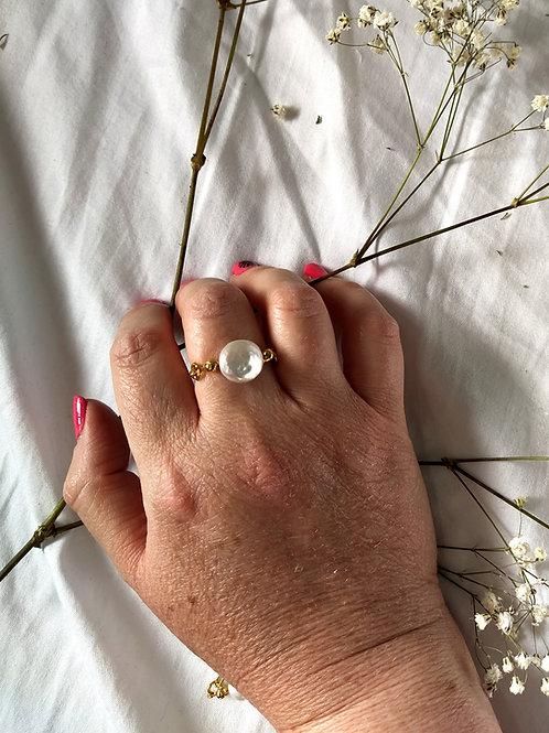 טבעת פנינה לונה