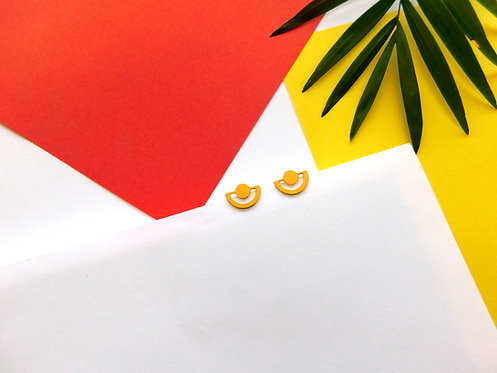 עגילים קטנטנים צמודים - זהב/כסף