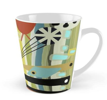 Mid Mod Fish Print Mug