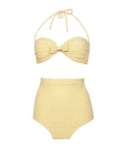 Yelloe 50s Retro Two Piece Bathing Suit