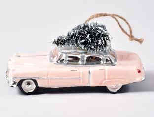 Retro Christmas Car Ornament