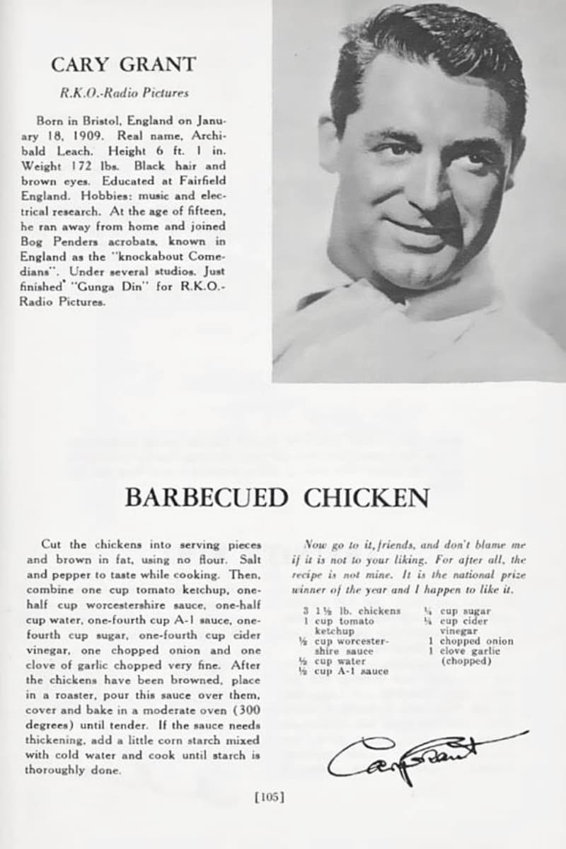 Cary Grant Barbeque Chicken Recipe