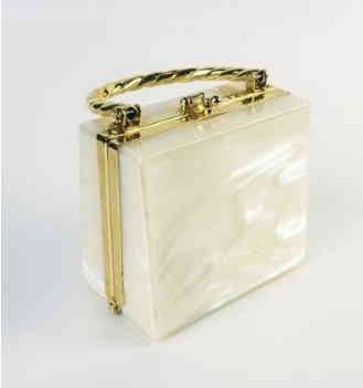 Vintage Elan Marbled Lucite Handbag
