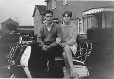 60s Mod Couple with scooter