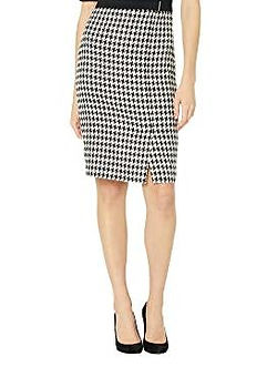 retro houndsooth pencil skirt