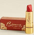retro red lipstick