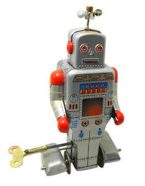 Retro Robot Wind Up Toy