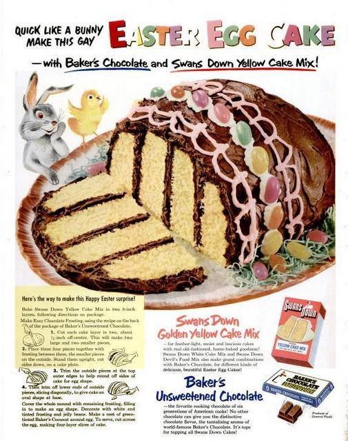 Retro Easter Cake Image from Pinterest