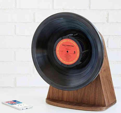 Retro Vinyl Record Blue Tooth Speaker