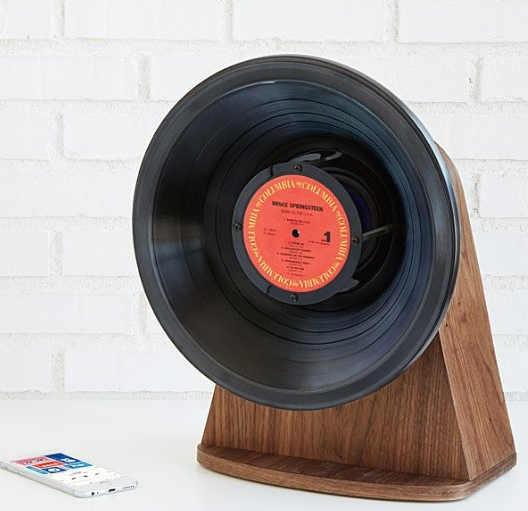 Retro Vinyl Blue tooth Speaker