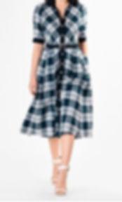 50s Style Plaid Shirtdress