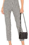 50s Inspired Cigarette Pants in Gingham.