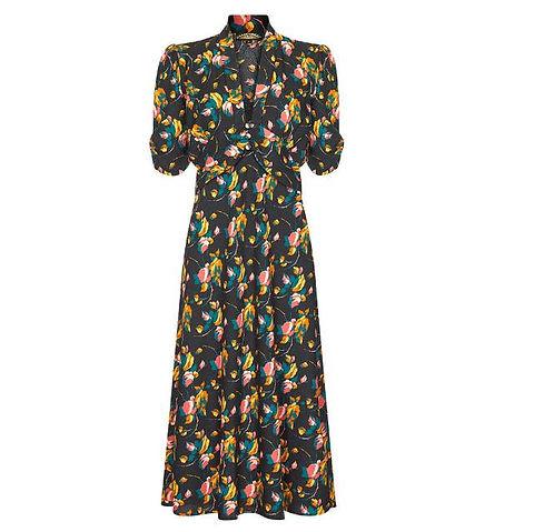 40s printed dress